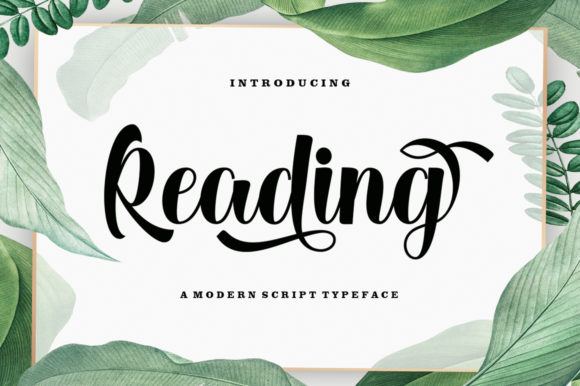 Print on Demand: Reading Script & Handwritten Font By letterfreshstudio
