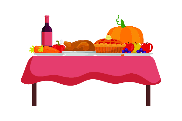 Realistic Thanksgiving Feast Svg Cut File By Creative Fabrica Crafts Creative Fabrica