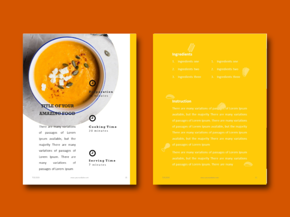 Download Free Recipe Book Powerpoint Template Grafik Von Rivatxfz Creative for Cricut Explore, Silhouette and other cutting machines.