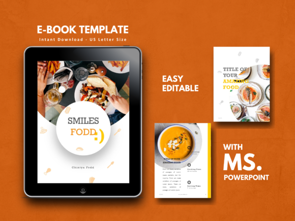 Print on Demand: Recipe Book PowerPoint Template Graphic Print Templates By rivatxfz
