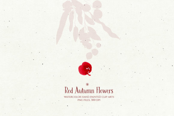 Print on Demand: Red Autumn Flowers Graphic Illustrations By webvilla - Image 6