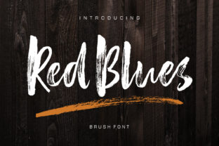 Red Blues Font By luckytype.font