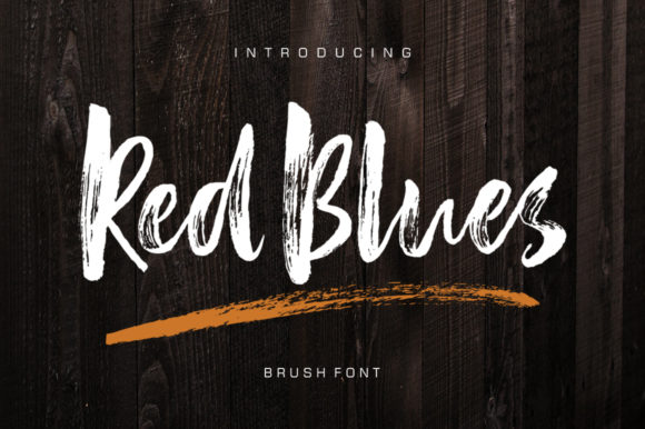 Print on Demand: Red Blues Script & Handwritten Font By luckytype.font - Image 1