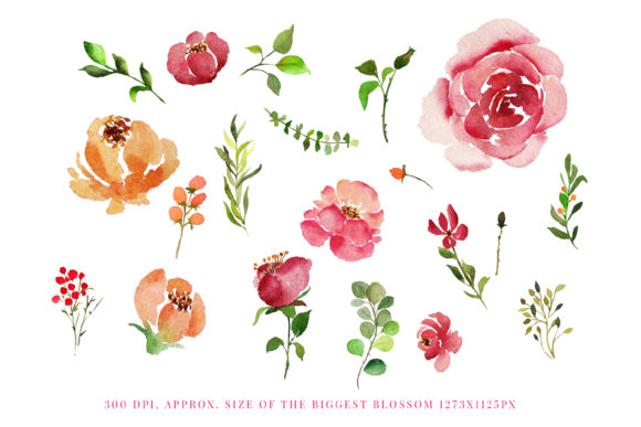 Print on Demand: Red Indigo Flowers Graphic Illustrations By Primafox Design - Image 3