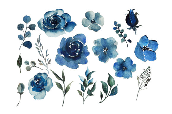 Print on Demand: Red Indigo Flowers Graphic Illustrations By Primafox Design - Image 5