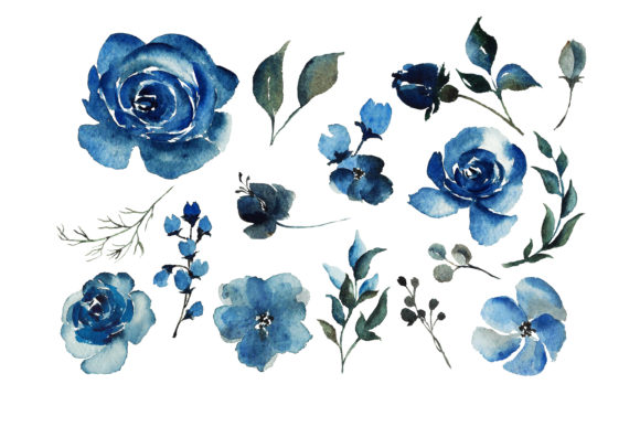 Print on Demand: Red Indigo Flowers Graphic Illustrations By Primafox Design - Image 6