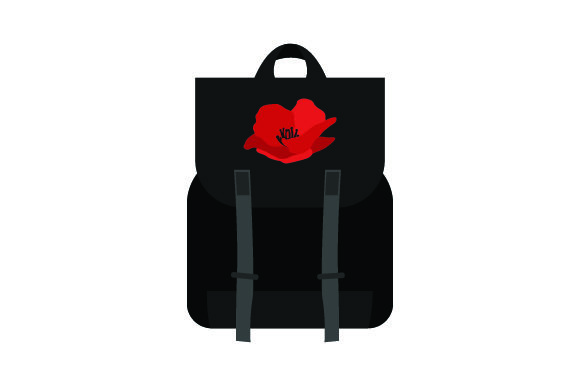 Red Poppy on Backpack Craft Design By Creative Fabrica Crafts