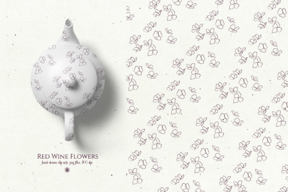 Red Wine Flowers Graphic By webvilla Image 2