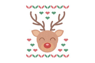Reindeer. Ugly Sweater Style Craft Design By Creative Fabrica Crafts
