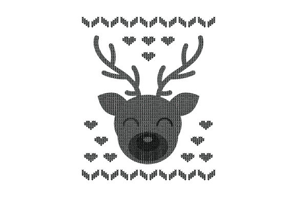Download Free Reindeer Ugly Sweater Style Svg Cut File By Creative Fabrica for Cricut Explore, Silhouette and other cutting machines.