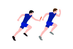 Relay Runners (passing Baton) Craft Design By Creative Fabrica Crafts