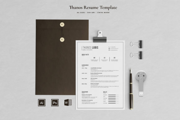 Print on Demand: Resume Template 2 Pages | Lubis Graphic Print Templates By Blancalab Studio
