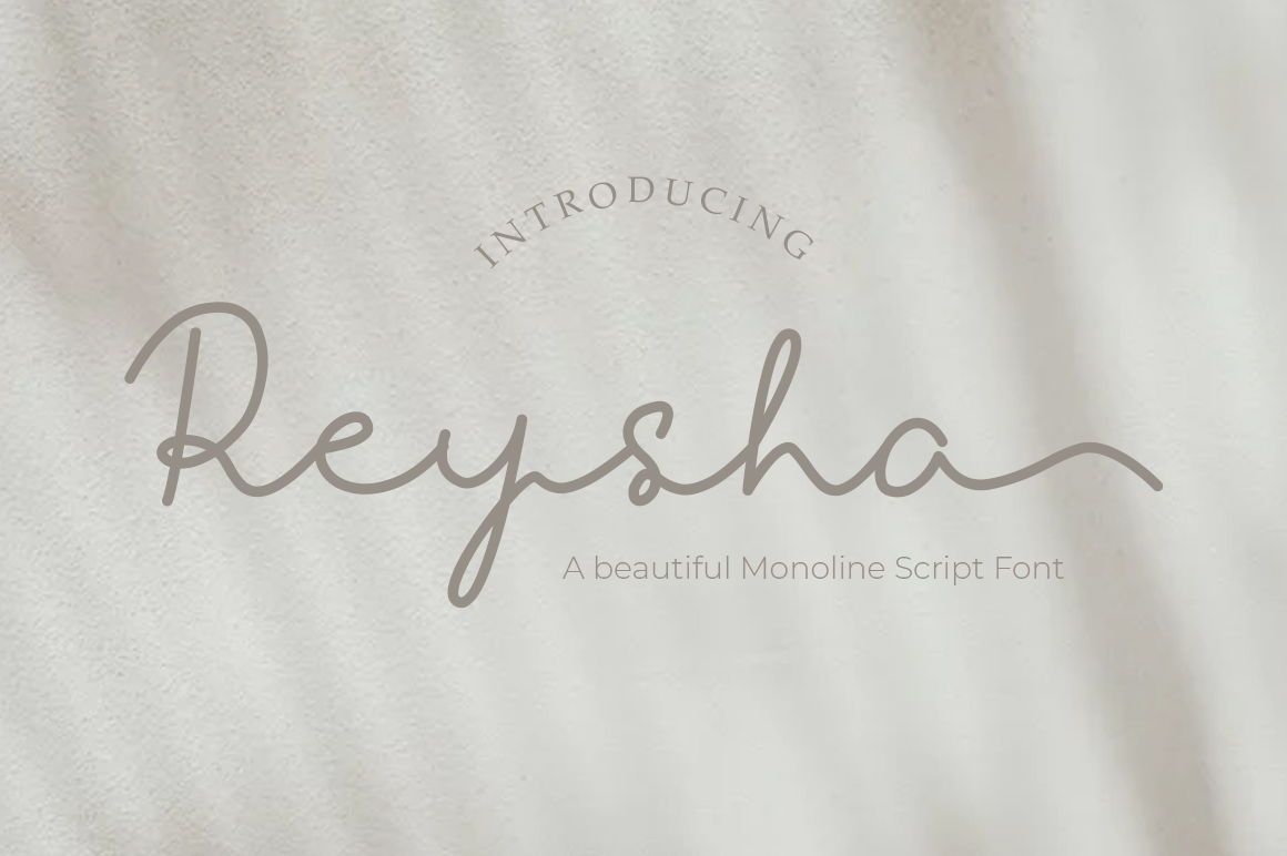 Download Free Reysha Font By Madatype Studio Creative Fabrica for Cricut Explore, Silhouette and other cutting machines.