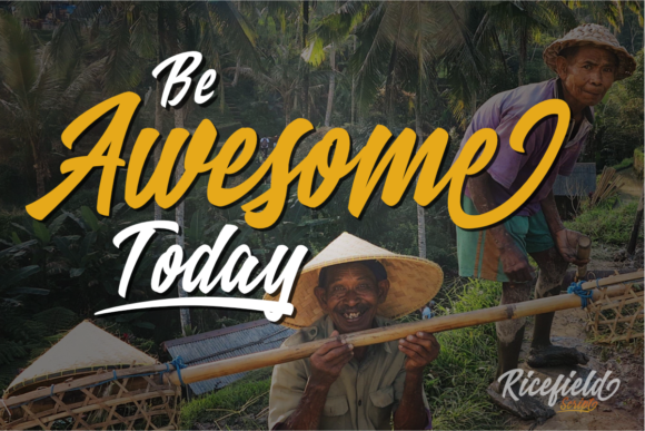 Print on Demand: Ricefield Script & Handwritten Font By rudhisasmito - Image 2
