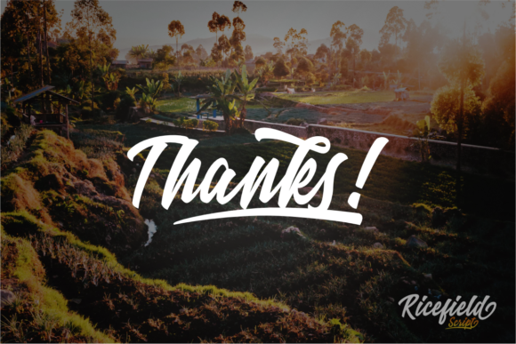 Print on Demand: Ricefield Script & Handwritten Font By rudhisasmito - Image 8