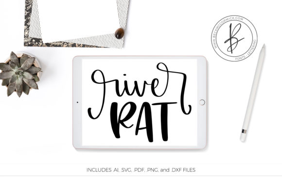 Download Free River Rat Graphic By Beckmccormick Creative Fabrica for Cricut Explore, Silhouette and other cutting machines.