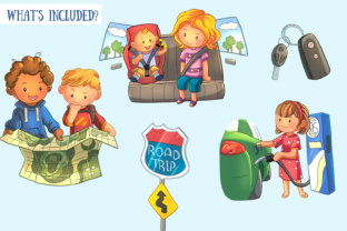 Print on Demand: Road Trip Clip Art Collection Graphic Illustrations By Keepinitkawaiidesign 2