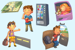 Print on Demand: Road Trip Clip Art Collection Graphic Illustrations By Keepinitkawaiidesign 3