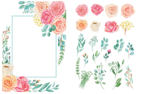 Print on Demand: Romantic Flower Graphic Illustrations By almarkhatype - Image 2