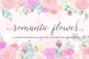 Print on Demand: Romantic Flower Graphic Illustrations By almarkhatype