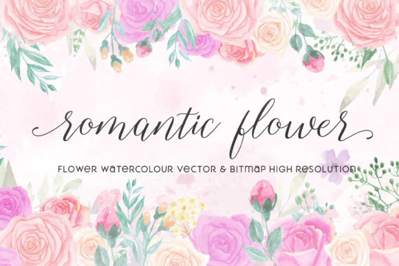 Print on Demand: Romantic Flower Graphic Illustrations By almarkhatype - Image 1