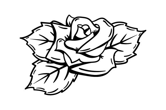 Download Free Rose Tattoo Art Style Svg Cut File By Creative Fabrica Crafts for Cricut Explore, Silhouette and other cutting machines.