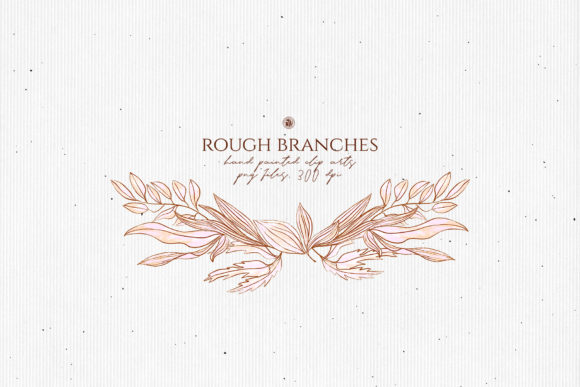 Print on Demand: Rough Branches Graphic Illustrations By webvilla - Image 3