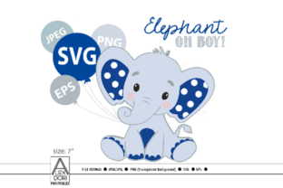 Download Free Royal Blue Baby Boy Elephant Svg File Graphic By Adlydigital for Cricut Explore, Silhouette and other cutting machines.