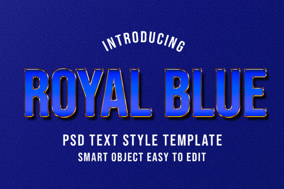 Print on Demand: Royal Blue PSD Text Style Effect Graphic Layer Styles By eddyinside