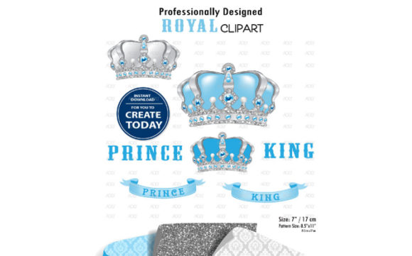 Print on Demand: Royal Crown Clipart Graphic Illustrations By adlydigital