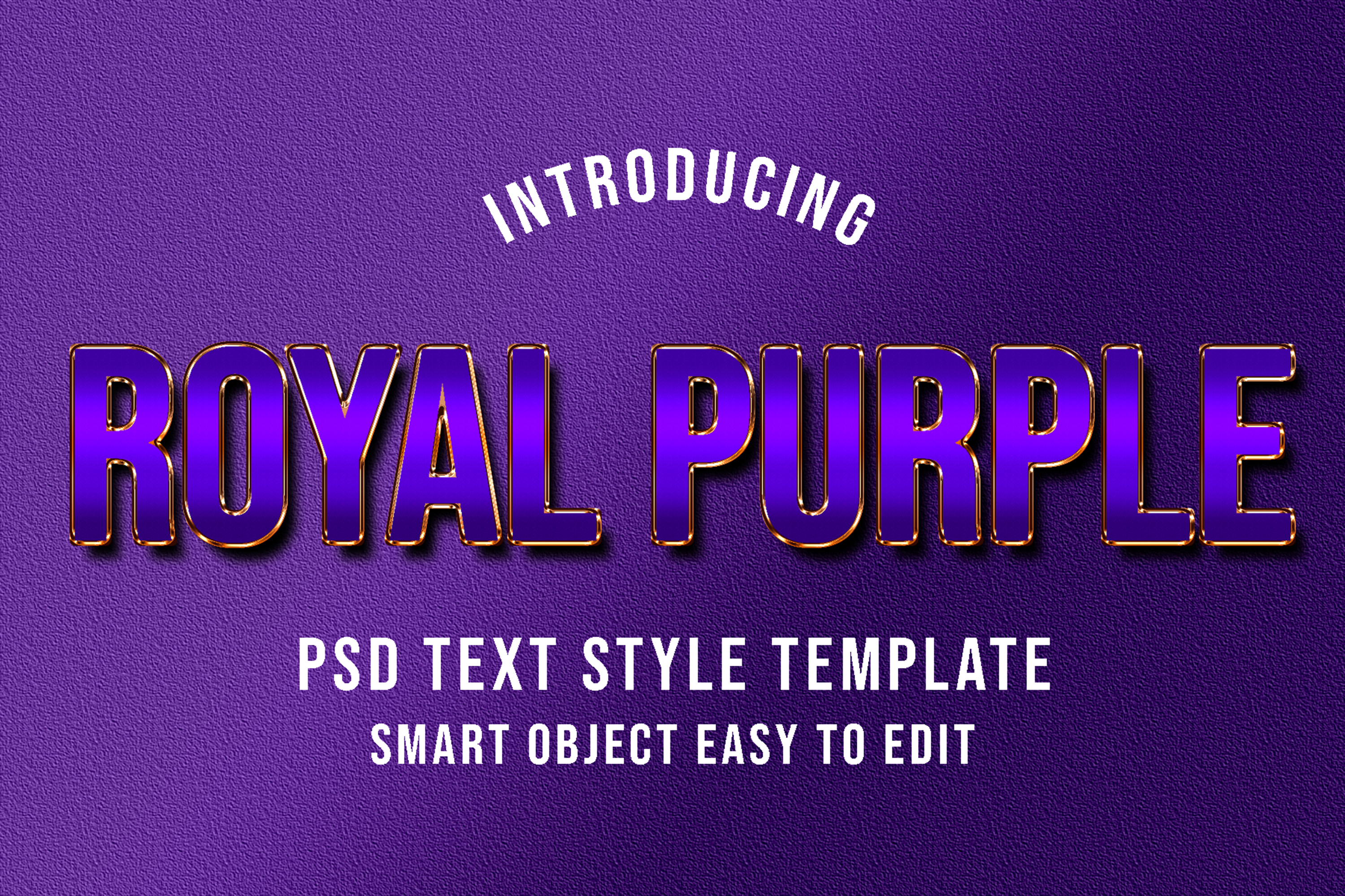 Download Free Royal Purple Psd Text Style Effect Graphic By Eddyinside for Cricut Explore, Silhouette and other cutting machines.