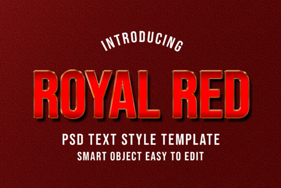 Print on Demand: Royal Red PSD Layer Text Styles Effect Graphic Layer Styles By eddyinside