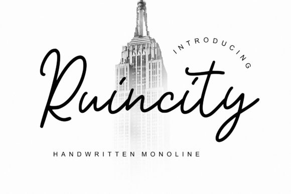 Print on Demand: Ruincity Script & Handwritten Font By CreatypeStudio