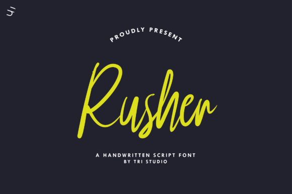 Print on Demand: Rusher Script & Handwritten Font By Yusuf Artworks - Image 1