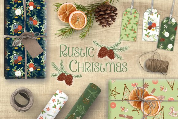 Download Free Rustic Christmas Paper Pack 16 Patterns Grafico Por Tl Digital for Cricut Explore, Silhouette and other cutting machines.