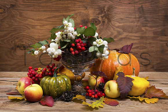Rustic Thanksgiving Centerpiece Graphic By TasiPas Image 1