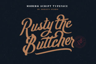 Rusty the Buttcher Font By lickermelody