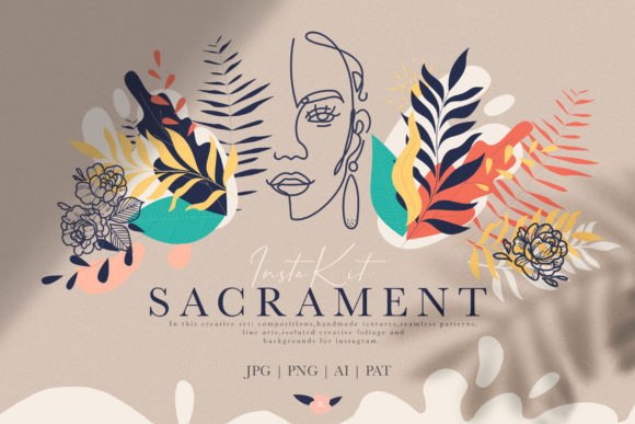 Sacrament Insta Kit Sacrament Insta Kit Graphic Print Templates By NassyArt - Image 1