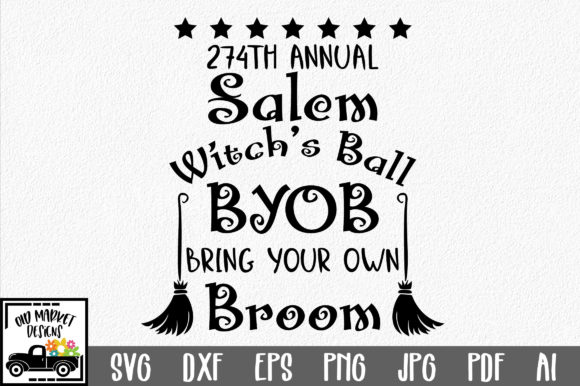 Salem Witch's Ball Graphic Crafts By oldmarketdesigns
