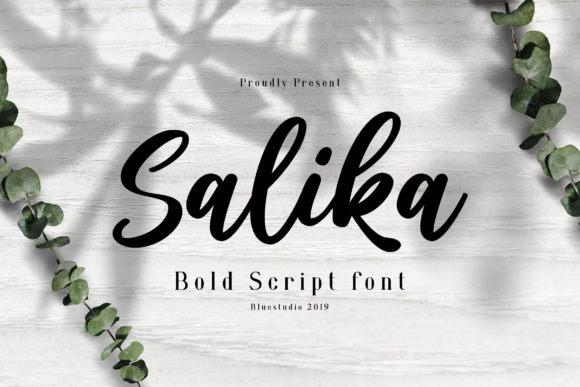 Print on Demand: Salika Script & Handwritten Font By Bluestudio