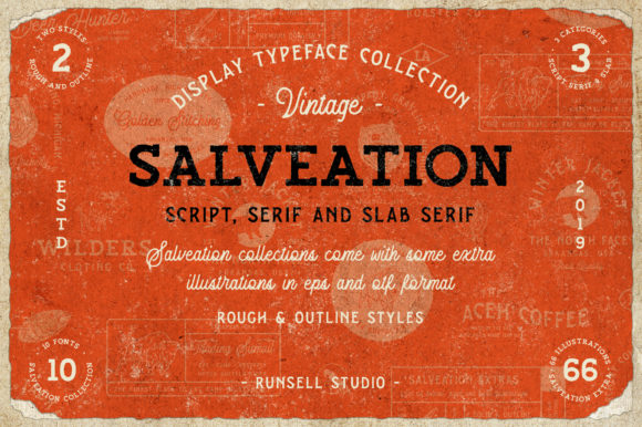 Print on Demand: Salveation Display Font By Runsell Graphic - Image 1
