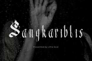 Sangkariblis Font By little scar