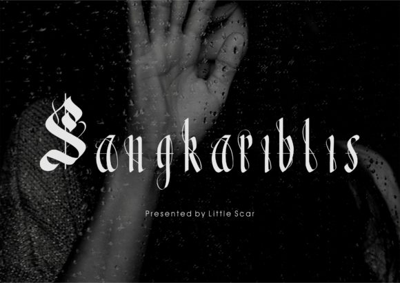 Print on Demand: Sangkariblis Blackletter Font By little scar