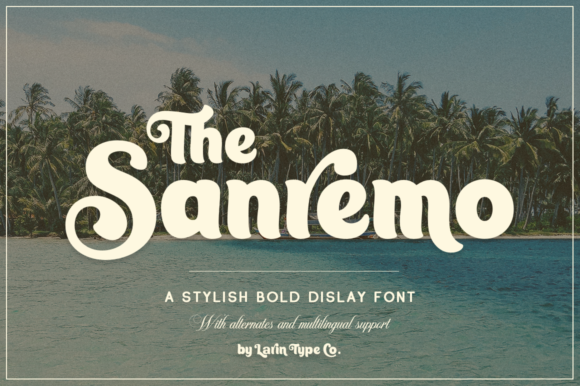 Print on Demand: Sanremo Display Font By Pasha Larin
