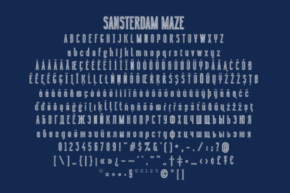 Print on Demand: Sansterdam Maze Display Font By NREY - Image 4