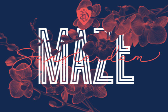 Print on Demand: Sansterdam Maze Display Font By NREY - Image 1