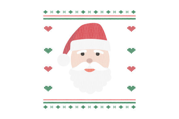 Download Free Santa Ugly Sweater Style Svg Cut File By Creative Fabrica for Cricut Explore, Silhouette and other cutting machines.