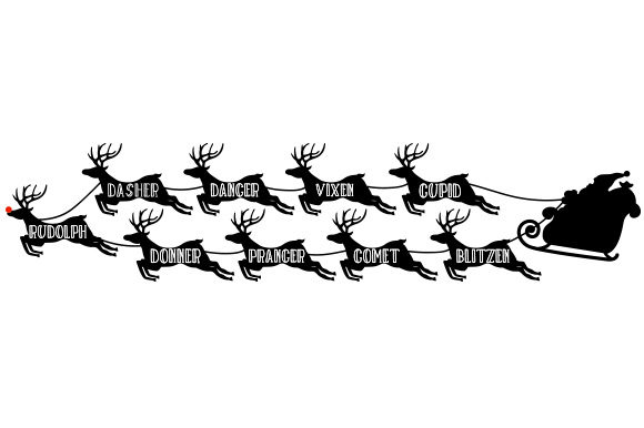 Santa Claus's Reindeer Christmas Craft Cut File By Creative Fabrica Crafts