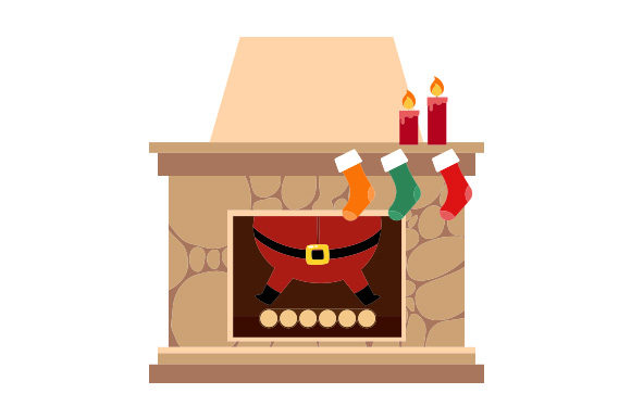Download Free Santa Stuck In Chimney Svg Cut File By Creative Fabrica Crafts for Cricut Explore, Silhouette and other cutting machines.