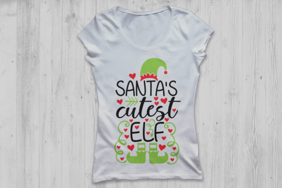 Download Free Santa S Cutest Elf Graphic By Cosmosfineart Creative Fabrica for Cricut Explore, Silhouette and other cutting machines.